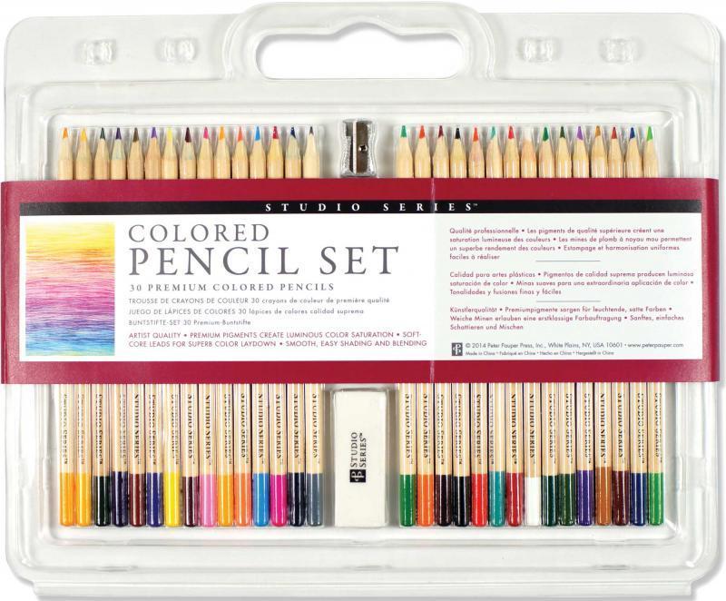 Colored Pencil Set 30 Premium Colored Pencils Studio Series Cpsnl - Premium-color-pencils