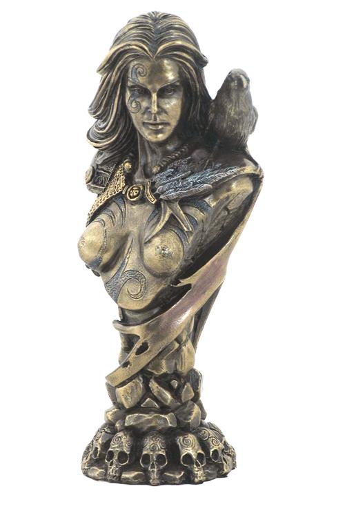 Celtic Goddess Morrigan Bust By Pagan Artist Neil Sims #WU75714A4