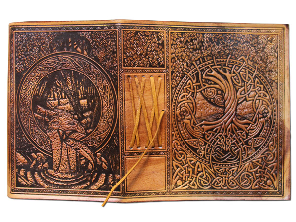 Celtic Tree Of Life Leather Journal By Courtney Davis