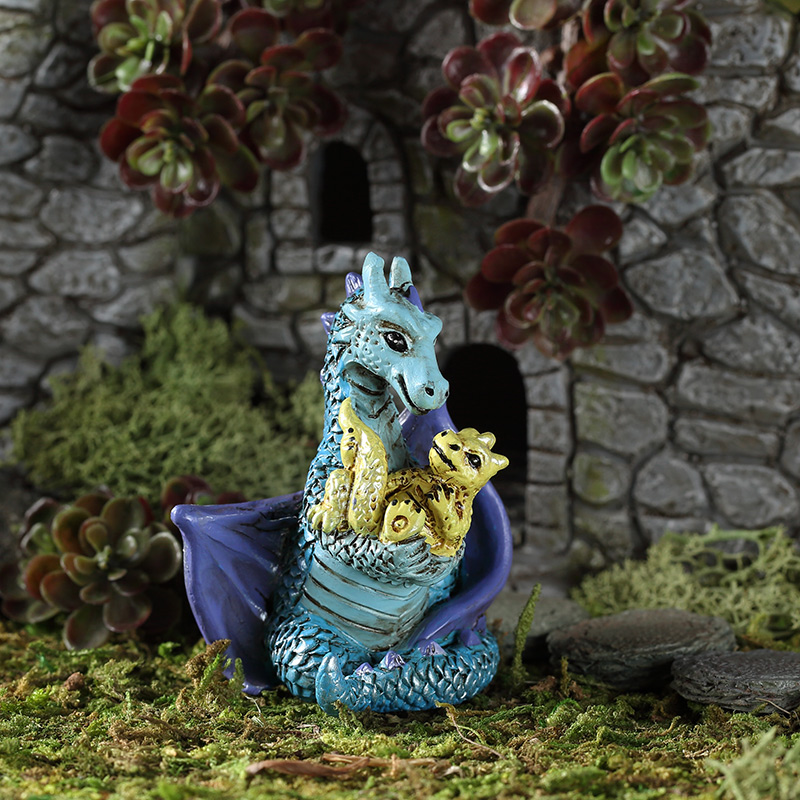 Fairy Garden Little Mom and Baby Dragon FGRMB