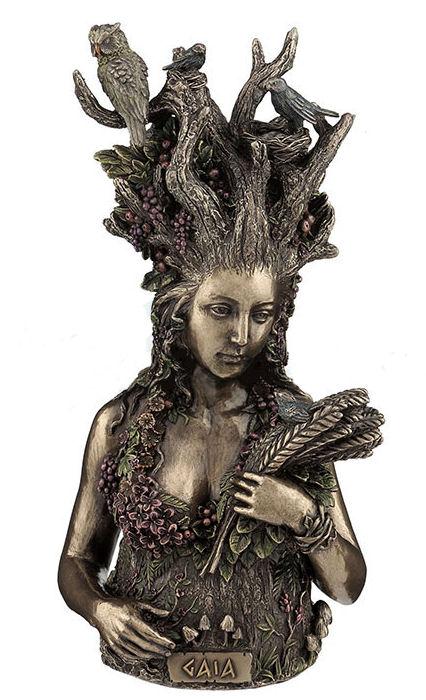 Gaia Greek Primordial Goddess Of Earth Statue Bronze