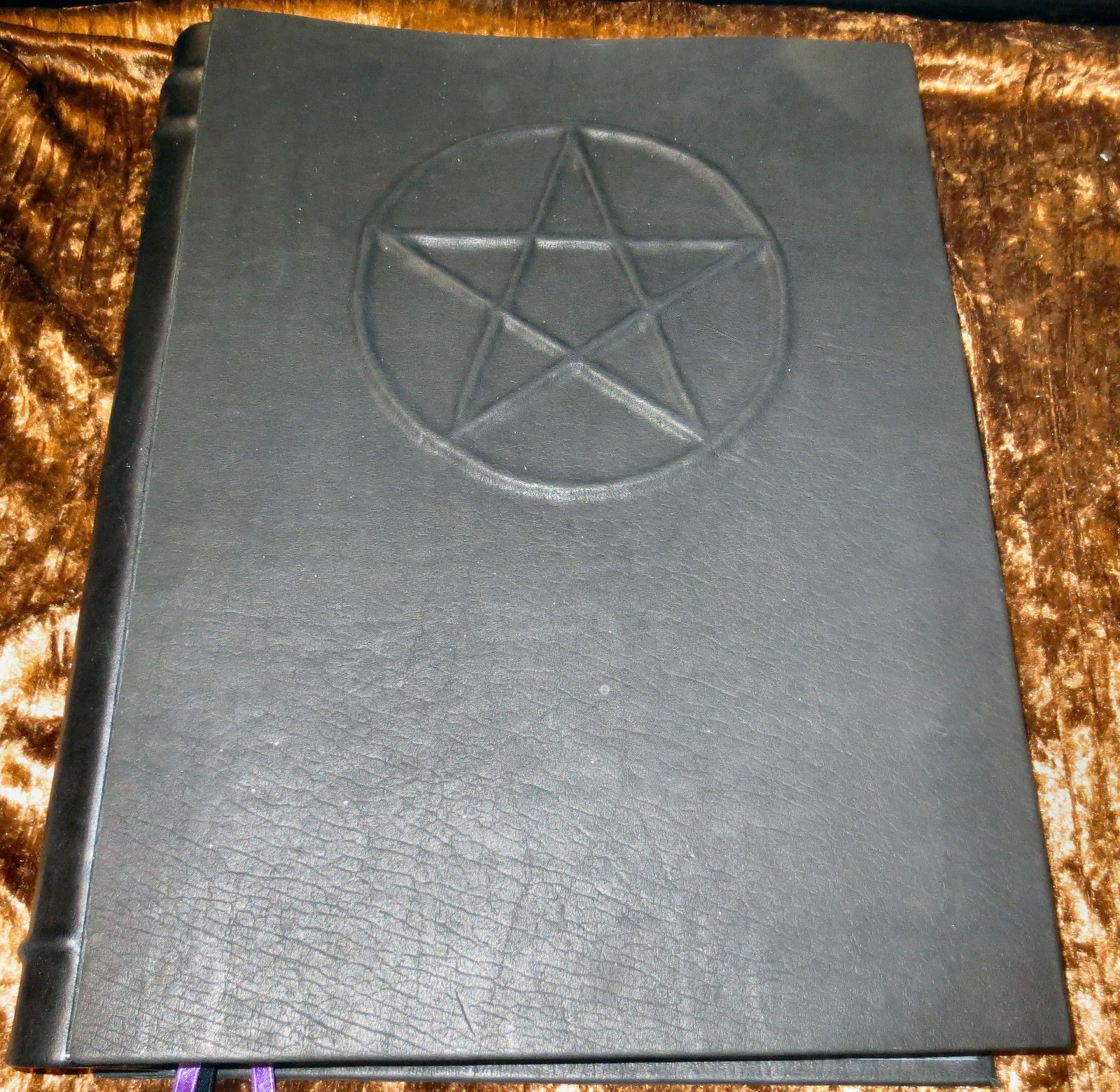 Handcrafted Leather Book Of Shadows Wicca Blank Pentacle