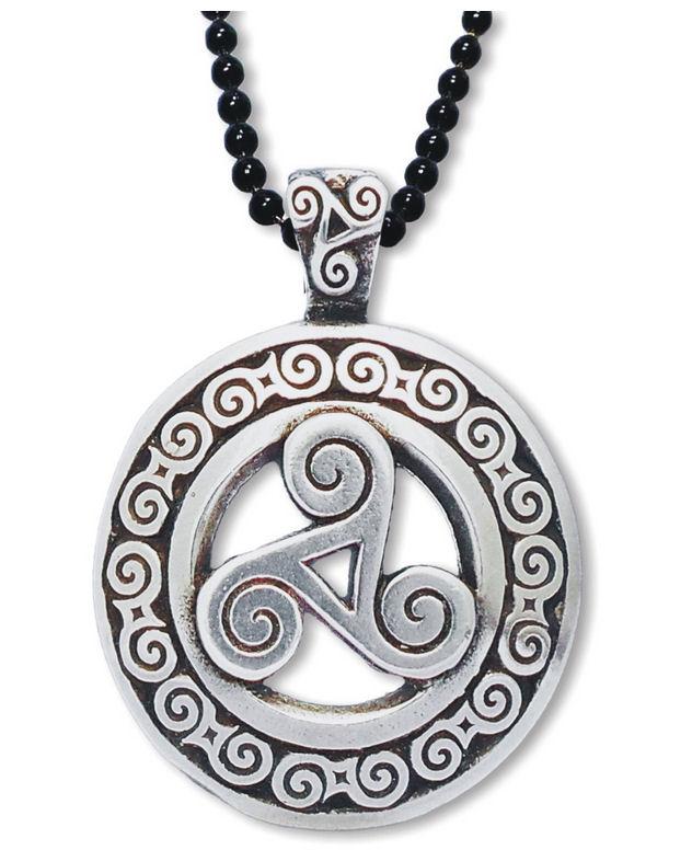 Rustic celtic knotwork triskele pendant aloadofball Image collections