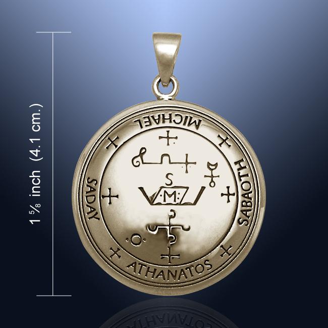 Sigil of the Archangel Michael Bronze Pendant Amulet