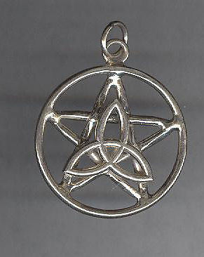 Sterling silver celtic triquetra pentacle pendant myoff sterling silver celtic triquetra pentacle pendant myoff aloadofball Gallery