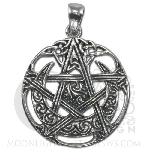 Sterling silver cut out moon pentacle pendant dryad designs by paul sterling silver cut out moon pentacle pendant dryad designs by paul borda aloadofball Gallery