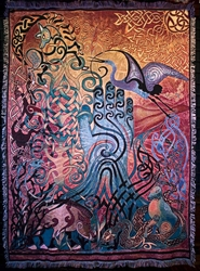 AWEN TAPESTRY AFGAN THROW by Artist Jen Delyth