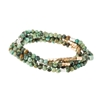 African Turquoise Wrap Gemstone Bracelets/Necklace