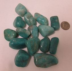 Amazonite, Tumbled and Polished