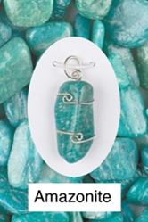 Amazonite Wire Wrap Pendant