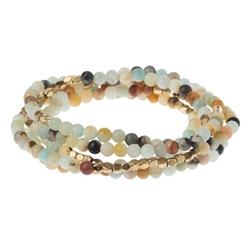 Amazonite Wrap Gemstone Bracelets/Necklace/Anklet  Amazonite Wrap Gemstone Bracelets/Necklace/Anklet