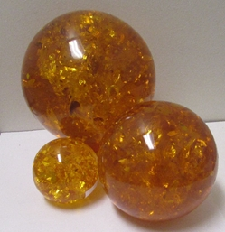 Amber Spheres, three sizes!
