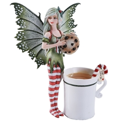 Amy Brown Christmas Cup Faery Fairy Figurine Amy Brown Christmas Cup Faery Fairy Figurine