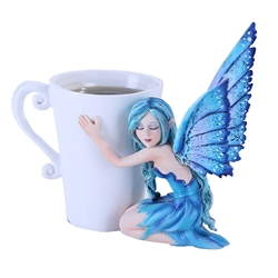 Amy Brown Comfort Cup Fairy Faery Figurine  Amy Brown Comfort Cup Fairy Faery Figurine, Amy Brown Fairies, Collectible Fairy, Collectable Faerie