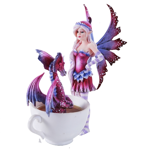 Amy Brown Cup Cup Fairy with Dragon Figurine