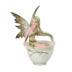 Amy Brown Green Tea Faery Fairy Figurine