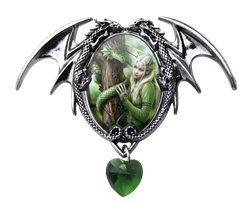 Anne Stokes Kindred Spirits Cameo Pendant