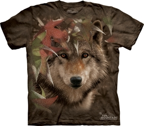 Autumn Encounter 3298 Wolf Totem T-Shirt