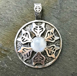 "Avalon Blessings Pendant ""Protect This Woman"" Moonstone Pendant"
