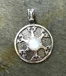 "Avalon Blessings Pendant ""Strength To This Woman"" Moonstone Pendant"