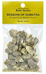 BENZOIN OF SUMATRA RESIN INCENSE - 3/4 OZ.