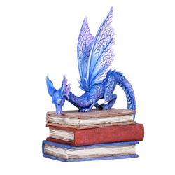 BOOK DRAGON Reading Dragon Statue by Amy Brown  BOOK DRAGON Reading Dragon Statue by Amy Brown