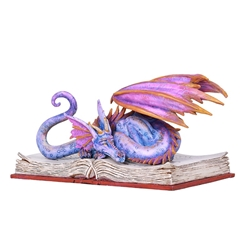 BOOK WYRM Reading Dragon Statue by Amy Brown BOOK WYRM Reading Dragon Statue by Amy Brown