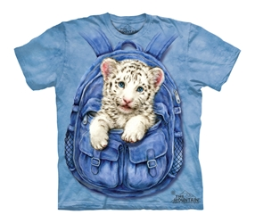 Backpack White Tiger 3433 T-Shirt