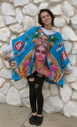 Beautiful Goddess Lakshmi Caftan Top