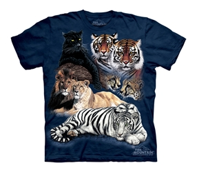 Big Cat Collage T-Shirt 1065
