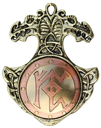 Bindrune Charm Pendant  for Financial Security