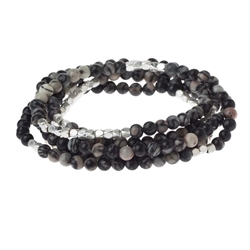Black Agate Wrap Gemstone Bracelets/Necklace/Anklet Black Agate Wrap Gemstone Bracelets/Necklace/Anklet, stack bracelet, gemstone bracelet
