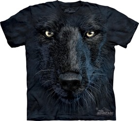 Black Wolf Face 3513 Tee Shirt