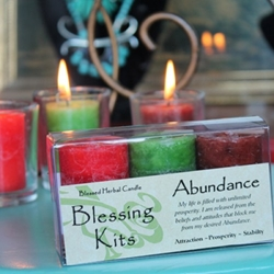 Blessed Herbal Candle Abundance Blessing Kit