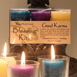 Blessed Herbal Candle Good Karma Blessing Kit
