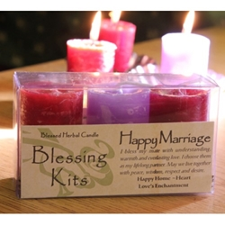 Blessed Herbal Candle Happy Marriage Blessing Kit