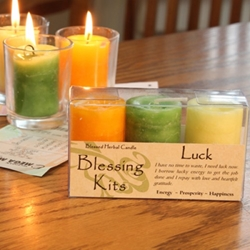 Blessed Herbal Candle Luck Blessing Kit