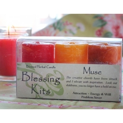 Blessed Herbal Candle Muse Blessing Kit