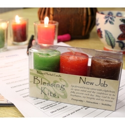Blessed Herbal Candle New Job Blessing Kit