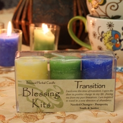 Blessed Herbal Candle Transition Blessing Kit