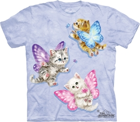 Butterfly Kitten Fairies Tee Shirt