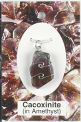 Cacoxinite Wire Wrapped Pendant