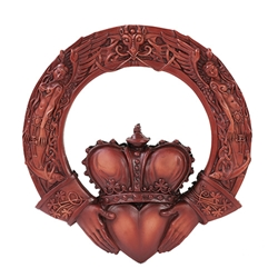 Celtic Claddagh Plaque Plaque by Maxine Miller