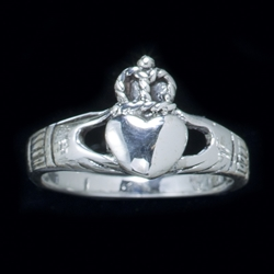 Celtic Claddagh Ring Sterling Silver