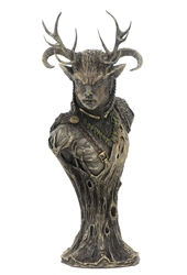 Celtic God Cernunnos Bust  by Pagan Artist Neil Sims