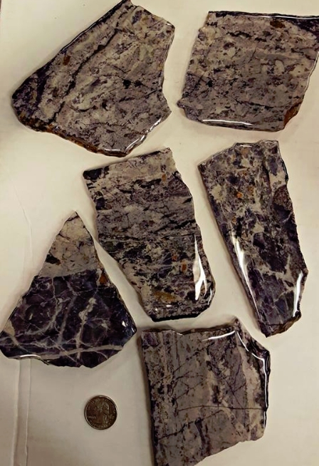 Colorado Fluorite Polished Pieces
