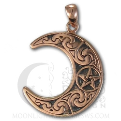 Copper Horned Moon Crescent Pendant CTP-2734 Dryad Designs by Paul Borda