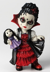 Cosplay Kids Figurines- Vampire Girl Holding A Vampire Doll