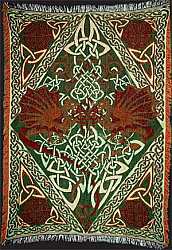 DRAGON TAPESTRY AFGAN THROW by Artist Jen Delyth
