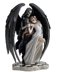 Dance With Death Figurine by Anne Stokes Dance With Death Figurine by Anne Stokes, Woman and Death Statue, Grim Reaper Dancing with Woman